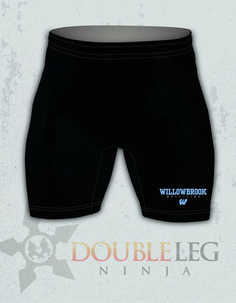 Willowbrook High School - Cliff Keen Compression Shorts , Shorts - Double Leg Ninja, Double Leg Ninja