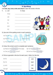 Grade 1 English Books- Worksheet Image - Time for Better English