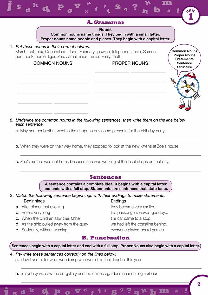 Year 4 English Books Worksheet Image- Time For Better English