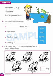 Prep Literacy Book Worksheet Image- Time For Better English