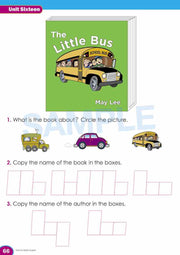 Kindy Literacy Book Worksheet Image- Time For Better English