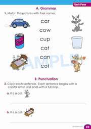 Prep English Book Worksheet Image- Time For Better English