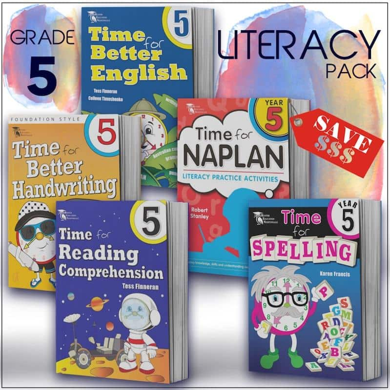 Grade 5 English Packs - Australia's Best Primary School English Packs