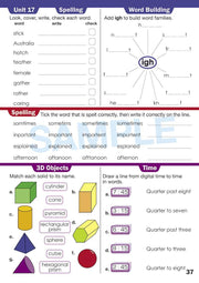 Year 2 Homework Books Worksheet Image- Time For Homework