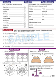 Year 3 Homework Books Worksheet Image- Time For Homework