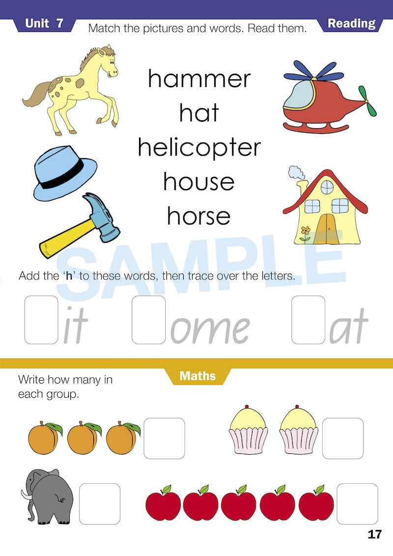 Kindy Homework Books Worksheet Image- Time For Homework