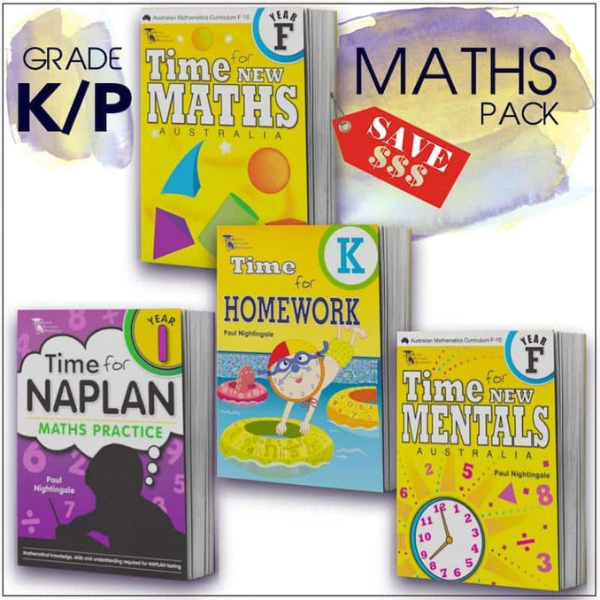 Prep Maths Packs - Image showing all books in the Kindy Maths Book Pack