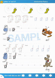 Year 1 Handwriting Book Worksheet Image- Time For Better Handwriting