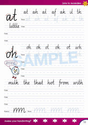 Year 2 Handwriting Books - Time For Handwriting Contents Image