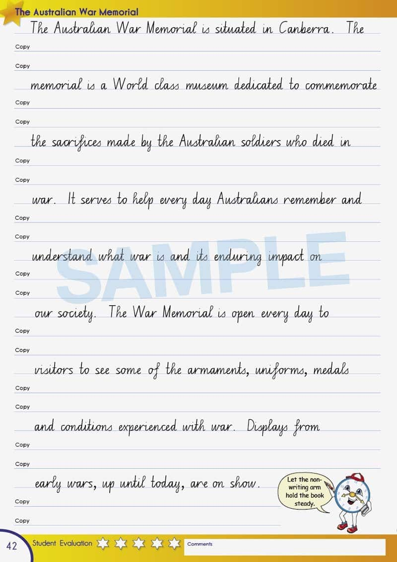 Year 6 Handwriting Books Worksheet Image- Time For Better Handwriting