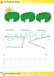 Kindy Handwriting Books Worksheet Image- Time For Better Handwriting