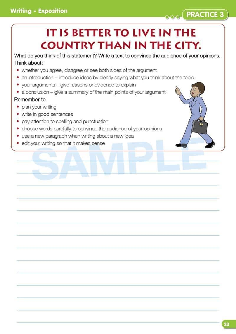 Grade 2 Naplan English Book Contents Page- Time For Naplan Literacy Practice