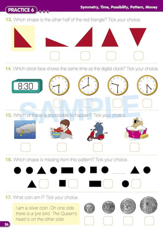 Kindy Naplan Maths Book Worksheet Image- Time For Naplan Maths Practice