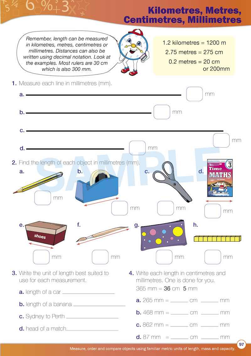 Grade 3 Maths Packs Contents Image
