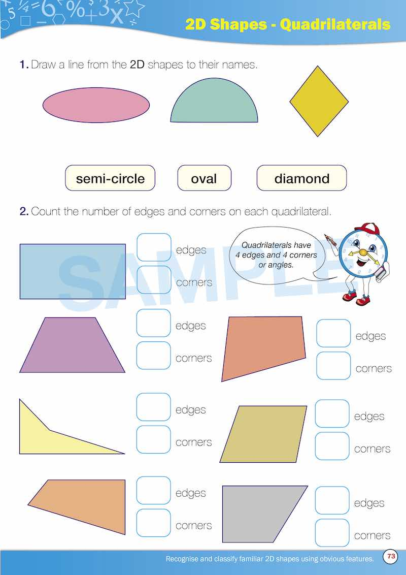 Year 1 Maths Books Worksheet Image- Time For New Maths