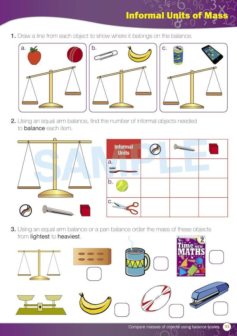 Grade 2 Maths Packs Contents