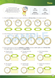 Grade 6 Maths Books Worksheet Image- Time For New Maths