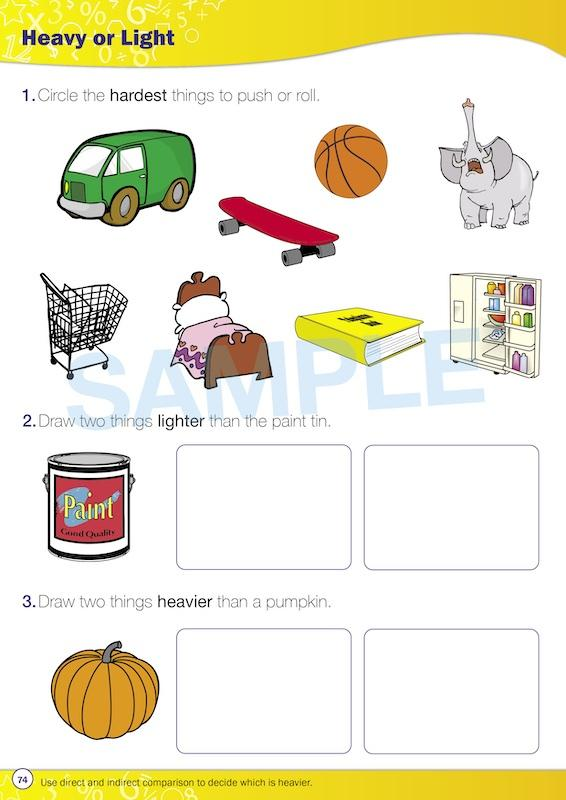 Kindy Maths Books - Time For New Maths Worksheet Image