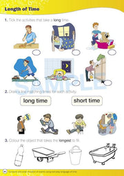 Prep Maths Books - Time For New Maths Worksheet Image