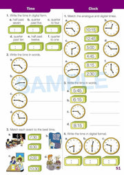 Year 2 Maths Extension Books Worksheet Image- Time For New Mentals