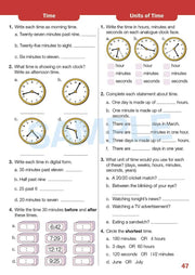 Grade 4 Maths Extension Books Worksheet Image- Time For New Mentals