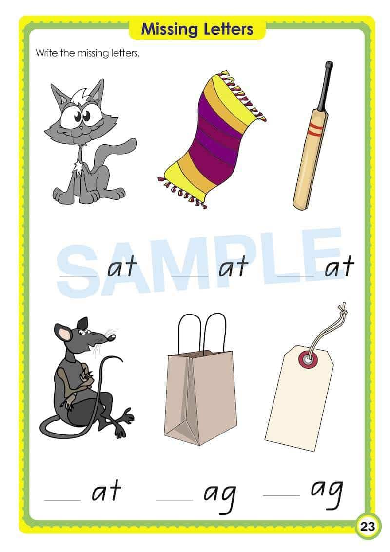 Kindy Phonics Books Worksheet Image- Time For Phonics