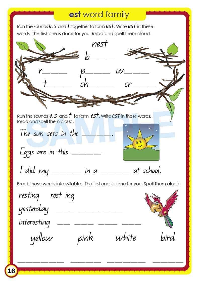 Grade 2 English Packs - Image of the pack contents