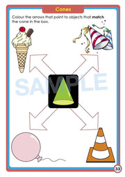 Pre School Maths Books  - Time for My Pre School Shapes & Measurement Contents Image