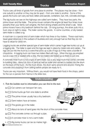 Year 3 Reading Books Worksheet Image- Time For Reading Comprehension