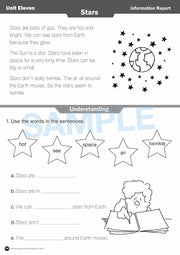 Year 1 Reading Books Worksheet Image- Time For Reading Comprehension