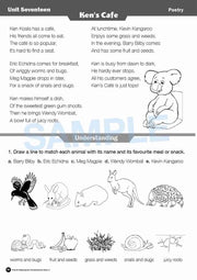 Year 2 Reading Books Worksheet Image- Time For Reading Comprehension