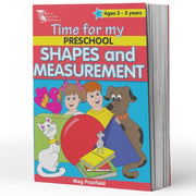 Pre School Maths Books  - Time for My Pre School Shapes & Measurement