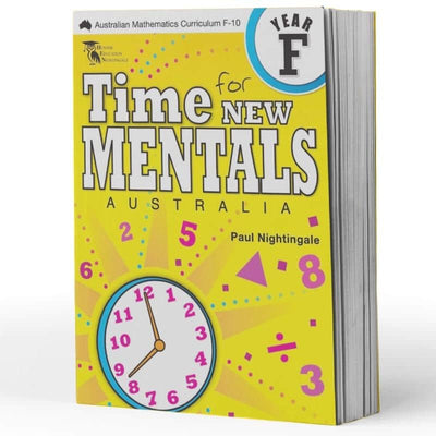 Kindy Maths Extension Books - Time For New Mentals