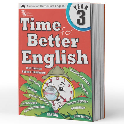 Year 3 English Books Worksheet Image- Time For Better English