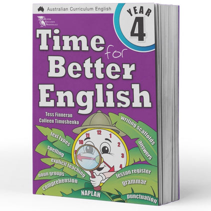 Year 4 English Books - Time for Better English