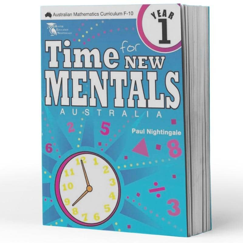 Grade 1 Maths Extension Books - Time For New Mentals