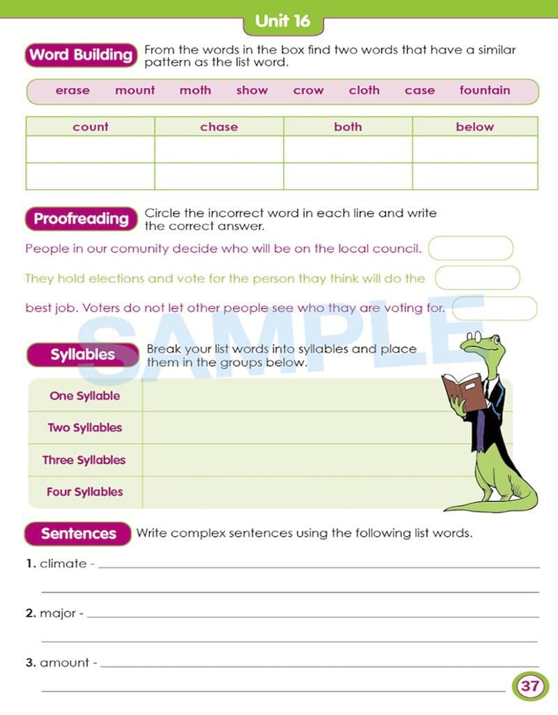 Year 3 Spelling Books Worksheet Image- Time For Better Spelling