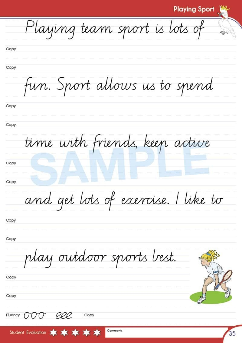 Year 3 Handwriting Books Worksheet Image- Time For Better Handwriting