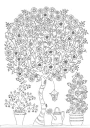 Flowers Colouring in Book