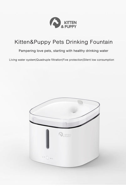 Original Kitten Puppy Pet Water Dispenser For Dog And Cat Clear Water White Color Small
