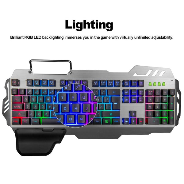PK-900 104 Keys USB Wired Back-lit Mechanical Hand-feel Gaming Keyboard