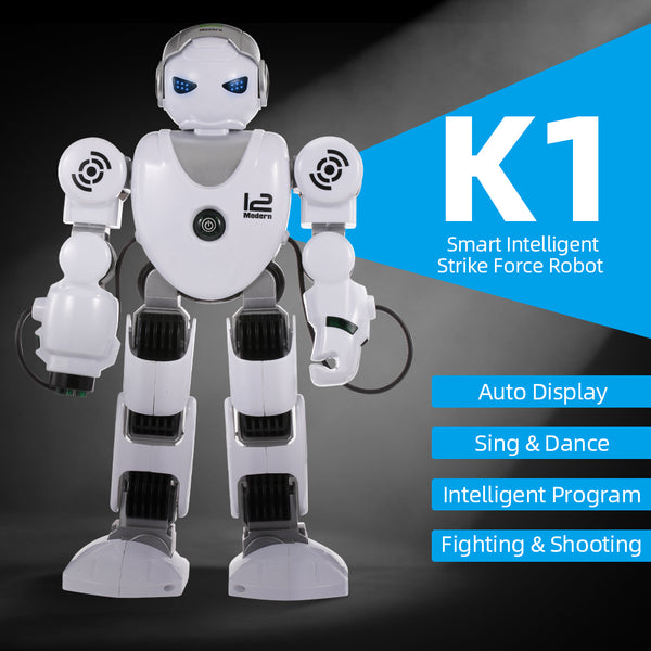 Intelligent Robot K2 Smart Strike Force Robot Programmable Music Dance RC Toy for Kids Gift