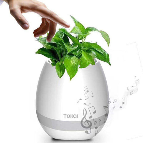 Smart Flower Pot Herb Garden Potted Plant Flower Hydroponics Sensor Bluetooth Speaker Pot Decorative