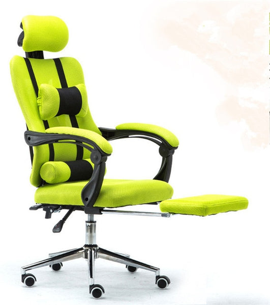 Racing Office Gamer Gaming Chair Ergonomic Design and High Back Recliner Computer Desk Furniture