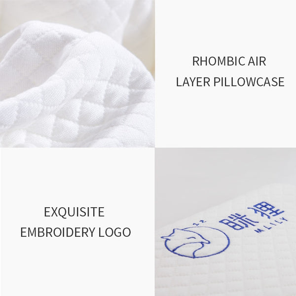 Mlily Memory Foam Bed Orthopedic Pillow for Neck Pain Sleeping with Embroidered Pillowcase 60*30cm