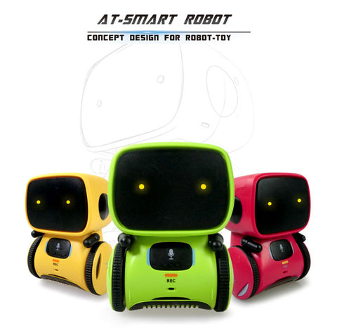 Newest Type Smart Robots Dance with Voice Command 3 Languages - Interactive Robot Toy Gifts for Kids