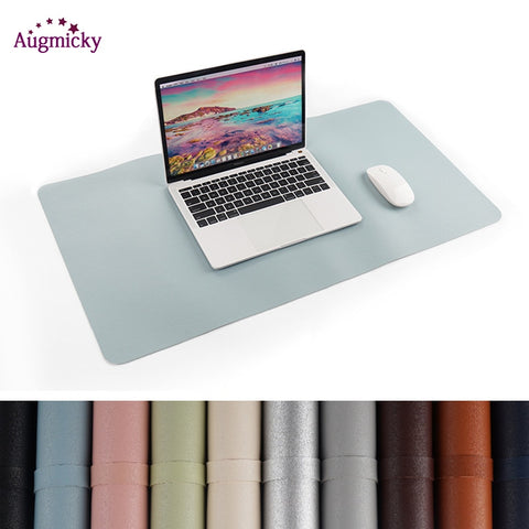 Large Gaming Mousepad Locking Edge PU Leather Front Back Double Use Mouse Mat Office Desktop Laptop