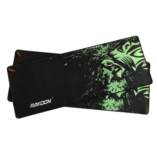 Green Print Large Gaming Mouse Pad Anti-slip Natural Rubber Keyboard For Laptop Computer Gamer