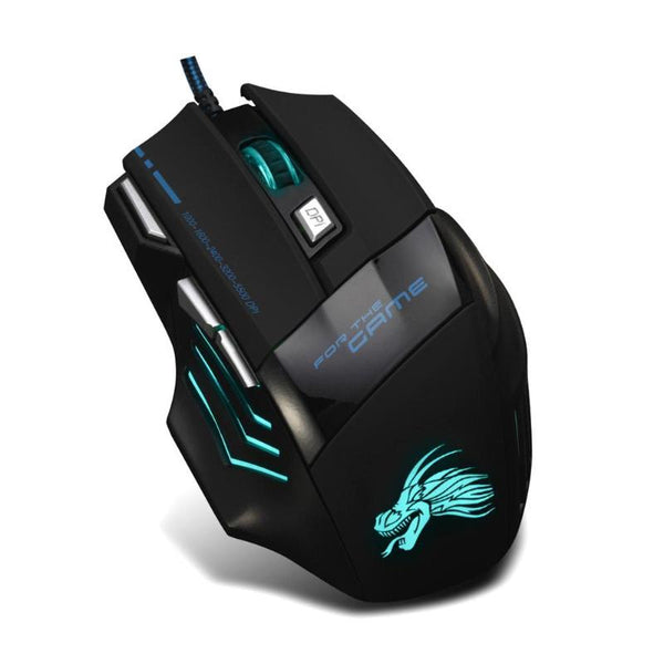 Wired Gaming Mouse Professional with 7 Buttons USB Cable LED Optical Gamer Mouse for Laptop & PC