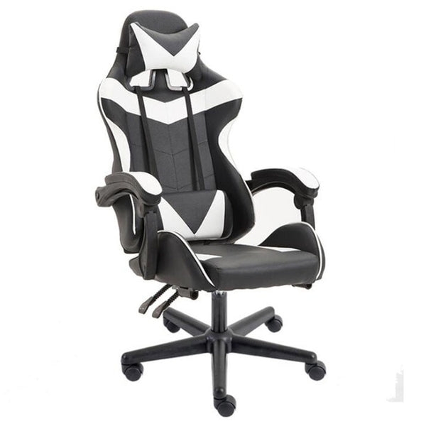 Chair Gaming Chair Massage and Rocking Function Computer PU Leather Swivel Racing Style Office Chair